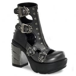 Costume Womens Sinister Multi Buckle Strap Shoes